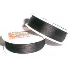 Нить для вышивания бисером Лантан (черный)
