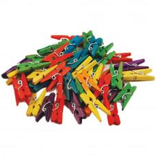 Набор мини-прищепок разноцветных, 45 шт.(CW601)