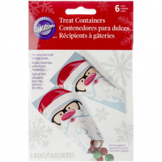 Набор бумажных пакетов для сладостей Санта, 6 шт (W5081)