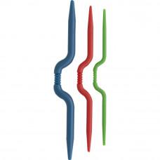 Вспомогательные спицы для вязания косичек изогнутые, 3 шт (3401007)