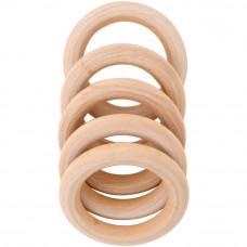 Кольца деревянные, 50 мм, 5 шт (7538029)