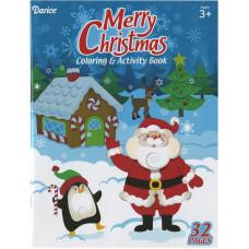 Книжка-раскраска Рождество, 32 стр. (100D 2493)
