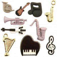 Набор пуговиц Музыка (4098)