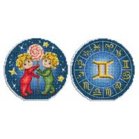 Набор для вышивания крестом М.П.Cтудия Знаки Зодиака. Близнецы. (Р-694)