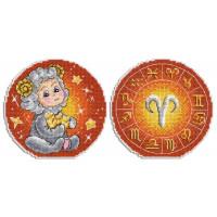 Набор для вышивания крестом М.П.Cтудия Знаки зодиака. Овен. (Р-695)
