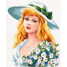 Набор для вышивания крестиком Чудесная игла Твои зеленые глаза (83-05)