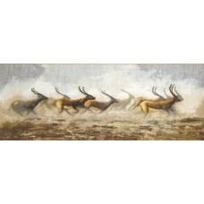 Набор для вышивания крестиком Чарівна мить Бегущие антилопы (440)