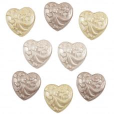 Набор пуговиц Свадебные цветочные сердца (BTP 4416)