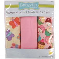 Набор водонепроницаемых тканей для шитья Бабочки и пирожные (35024)