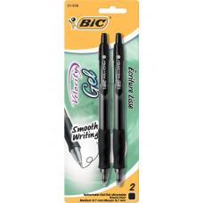 Выдвижные гелевые ручки Bic, 0,7мм, Черные (RLCP21)