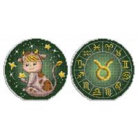 Набор для вышивания крестом М.П.Cтудия Знаки зодиака. Телец. (Р-699)