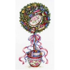 Набор для вышивания крестом М.П.Cтудия Топиарий радости (НВ-691)