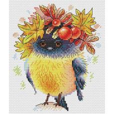 Набор для вышивания крестом М.П.Cтудия Осенняя пташка (М-236)