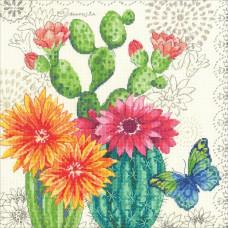 Набор для вышивания крестом Dimensions Цветение кактуса (70-35388)