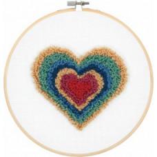 Набор для ковроткачества Dimensions Сердце Ретро (72-70024)