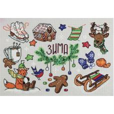Набор для вышивания крестом Panna  Зима в кармане (СЕ-7032)