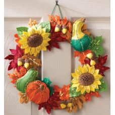 Венок из фетра на стену/дверь Harvest Time Wreath (86428)