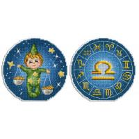 Набор для вышивания крестом М.П.Cтудия Знаки зодиака. Весы.(Р-703)