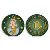 Набор для вышивания крестом М.П.Cтудия Знаки зодиака. Козерог. (Р-704)