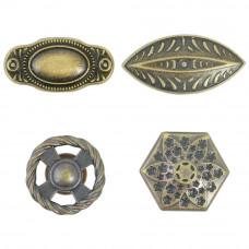 Ручки дверные металлические, Античная латунь, 4 шт.(TM814)