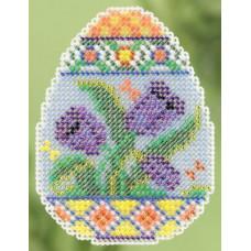 Набор для вышивания Mill Hill Яйцо пасхальное с тюльпанами (MH185105)