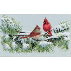 Набор для вышивания крестом Dimensions Зимние кардиналы (35178)