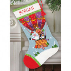Набор для вышивания Dimensions Рождественский сапожок Воздушный шар Санты (71-09156)