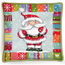 Подушка Санта с узором (71-09157)