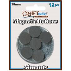 Магнит круглый Multicraft Imports, 12 шт.(MCMT 048)
