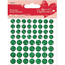 Купольные наклейки Зеленые (PM805905)