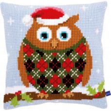 Набор для вышивания подушки Рождественская сова (V0154717)