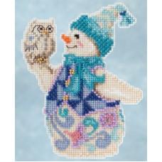 Набор для вышивания Mill Hill Снеговик со снежной совой (JS205103)
