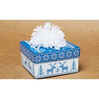 Коробка Шапка синяя (М0003-о12)