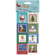 Картинки-марки Веселый Санта, 16 шт. (PM157955)