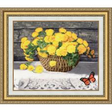 Набор для вышивания крестиком Золотое руно Солнце в цветах (ЛЦ-051)