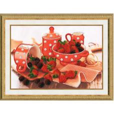 Набор для вышивания бисером Золотое руно Аромат ягод (РТ-018)