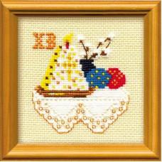 Набор для вышивания крестом Риолис Кулич с вербой (0822)