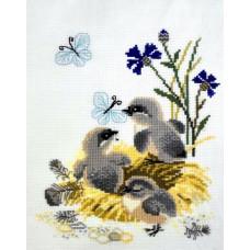 Набор для вышивания крестом Риолис Птенцы (0930)