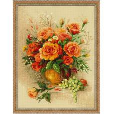 Набор для вышивания крестом Риолис Чайные розы (100/049)