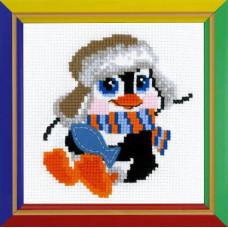 Набор для вышивания крестом Риолис Пингвиненок (НВ-158)