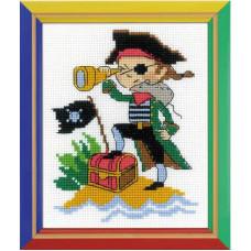 Набор для вышивания крестом Риолис Храбрый пират (НВ-164)