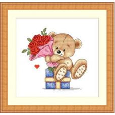 Набор для вышивания крестиком Сделано с любовью Алые розы (МК-018)