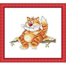 Набор для вышивания крестиком Сделано с любовью Высоко сижу - на собак гляжу (ПР-003)