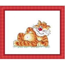 Набор для вышивания крестиком Сделано с любовью Наглая рыжая морда (ПР-004)