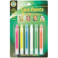 Карандаши для лица, 6 цветов, Neon (FPSTICK 80040)