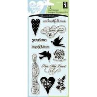Акриловый штамп Сердца и любовь (97619)