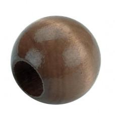 Бусины круглые для макраме Грецкий орех (PWB20 01)