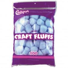 Пушистые комочки Craft Fluffs, голубые, 100 шт (FLUFF4OZ 6401)
