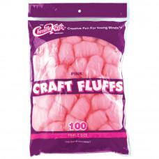 Пушистые комочки Craft Fluffs, розовые, 100 шт (FLUFF4OZ 6402)