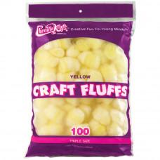Пушистые комочки Craft Fluffs, желтые, 100 шт (FLUFF4OZ 6403)